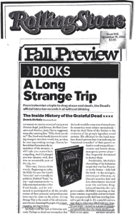 McNally, Dennis - Long Strange Trip - Rolling Stone Review 09/19/2