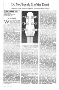 Do Not Speak Ill of the Dead, New York Times Sunday Review of A Long Strange Trip, by Dennis McNally, 8/25/02