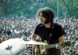 Garcia in Central Park, 1968 – sweet early days.