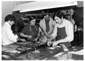 A long, long time ago...working on the Hill News, the campus paper at St. Lawrence University.  I'm second from left.