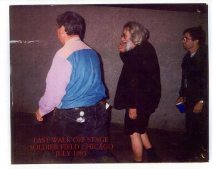 Ken Viola and I walk Jerry to the van at the last show.