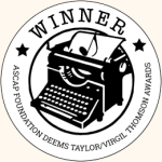 Winner: ASCAP Deems Taylor/Virgil Thomson Award